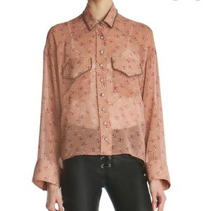 The Kooples Pink Floral Shirt